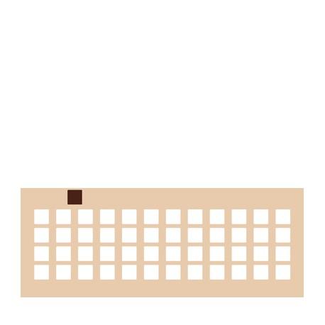 Chablon carré 2 x 2 cm