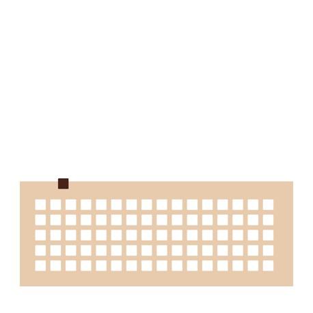 Chablon carré 1.5 x 1.5 cm