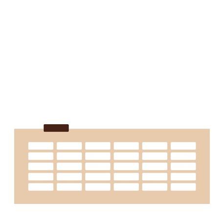 Chablon rectangle 5 x 1.5 cm