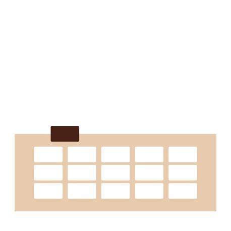 Chablon rectangle 5.5 x 3 cm