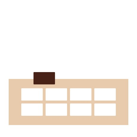 Chablon rectangle 7 x 4 cm