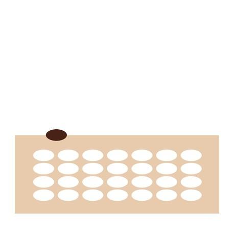 Chablon ovale 4 x 2.2 cm