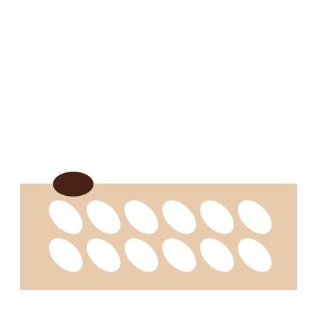 Chablon ovale 5.7 x 3.5 cm