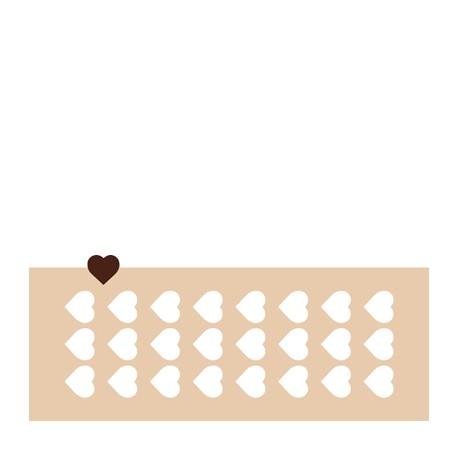 Chablon coeur 3 cm