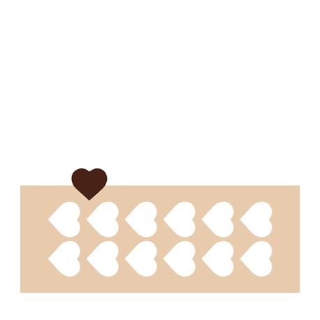 Chablon coeur 5 cm