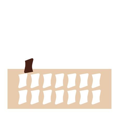 Chablon parchemin 4 x 3.5 cm