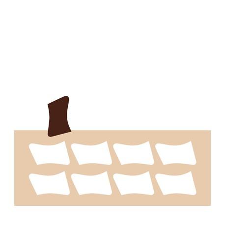 Chablon parchemin 7 x 4 cm
