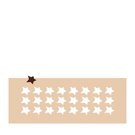 Chablon petite étoile irrégulière