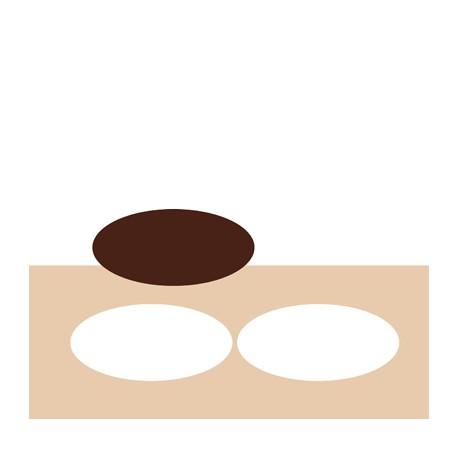 Chablon ovale 16 x 7.5 cm