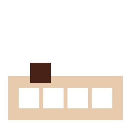 Chablon carré 7 x 7 cm