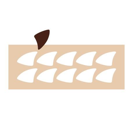Chablon triangle glace 7 cm