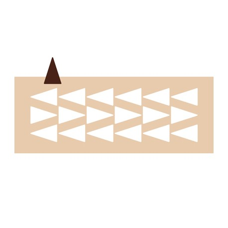 Chablon triangle Ht 5 cm
