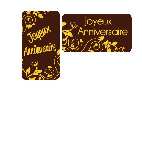 Anniversaire rectangle